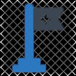 Medical Flag Flat Icon