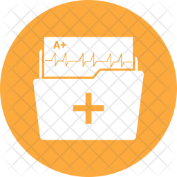 Medical Folder Icon Of Glyph Style Available In Svg Png Eps Ai Icon Fonts