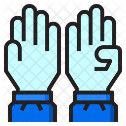 Medical Gloves Icon