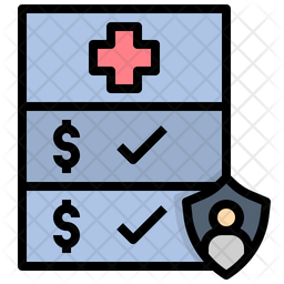 Medical Insurance Colored Outline Icon