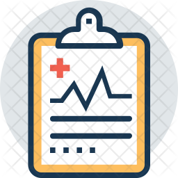 Medical Note Colored Outline Icon