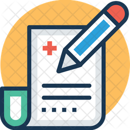 Medical paper Colored Outline Icon