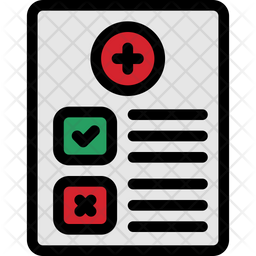 Medical Report Colored Outline Icon