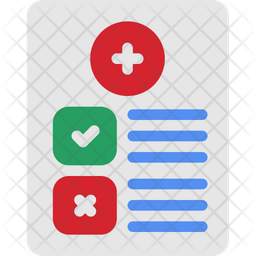 Medical Report Flat Icon