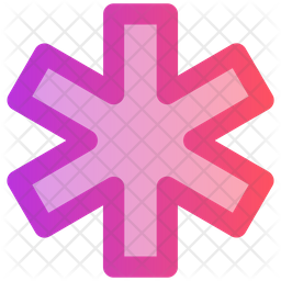 Medical Sign Gradient Icon