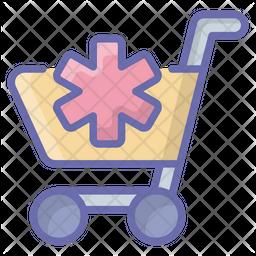 Medical Trolley Icon