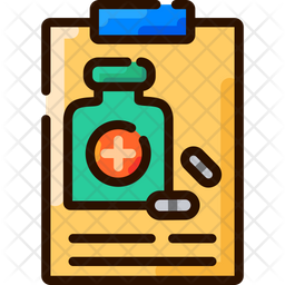 Medication Management Colored Outline Icon