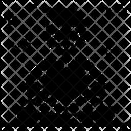 Meditation Glyph Icon