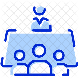 Meeting Colored Outline Icon