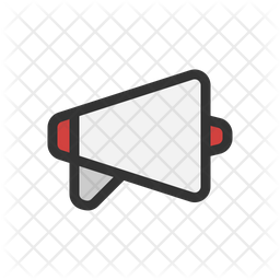 Megaphone Colored Outline Icon
