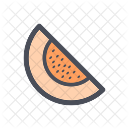 Melon Colored Outline Icon