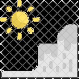 Melt Ice Flat Icon