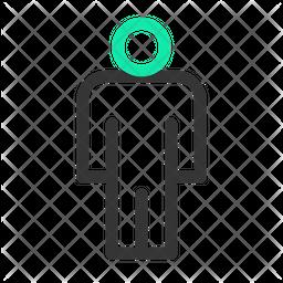 Men Toilet Line Icon