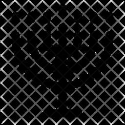 Menorah Line Icon