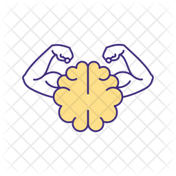 Mental strength Colored Outline Icon