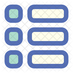 Menu Colored Outline Icon