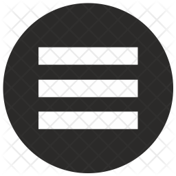 Menu, Round Line Icon