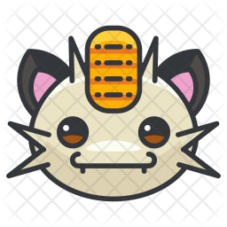 Meowth Colored Outline Icon