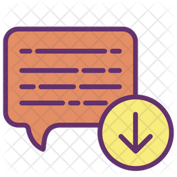 Message Download Icon Of Colored Outline Style Available In Svg Png Eps Ai Icon Fonts