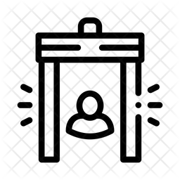 Metal Detector Line Icon