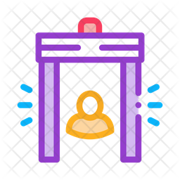 Metal Detector Colored Outline Icon