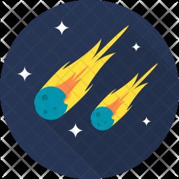 Meteor Flat Icon