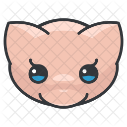 Mew Colored Outline Icon