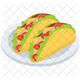 Mexican Food Tacos Icon