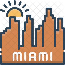 Miami Icon Of Colored Outline Style Available In Svg Png Eps Ai Icon Fonts
