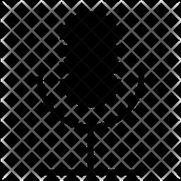 Mic Glyph Icon