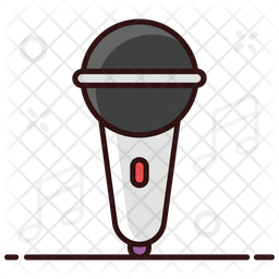 Mic Colored Outline Icon