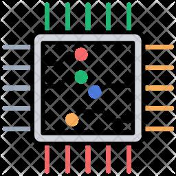 Microprocessor Colored Outline Icon