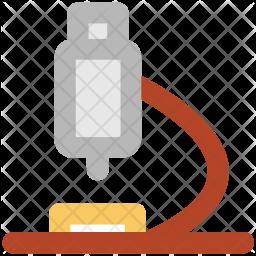 Microscope Colored Outline Icon
