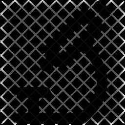 Microscope Line Icon
