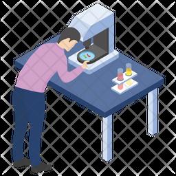 Microscopic Research Icon