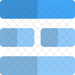 Middle horizontal grid Icon