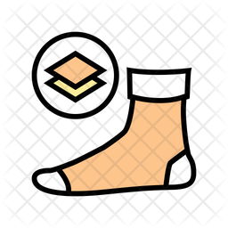 Middle sock Icon