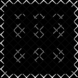 Midi Fighter Glyph Icon