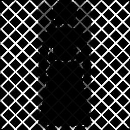 Midi skirt Glyph Icon