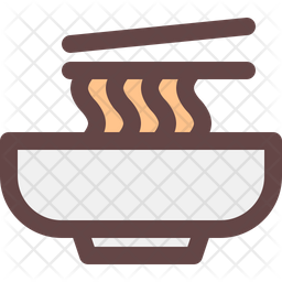 Mie Colored Outline Icon