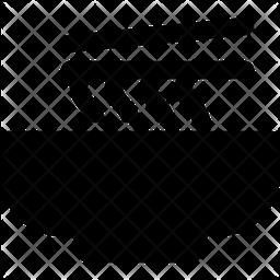 Mie Glyph Icon