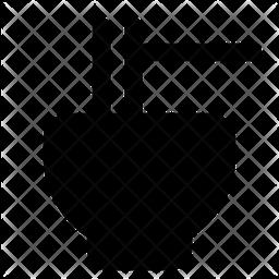 Mie Bowl Glyph Icon