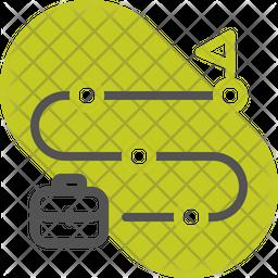 Milestone Colored Outline Icon