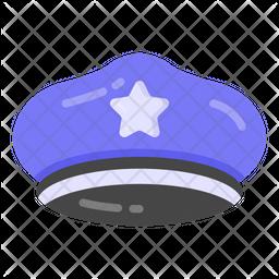 Military Cap Flat Icon