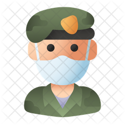 Military Officer Flat Icon