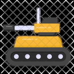 Military Tank Flat Icon