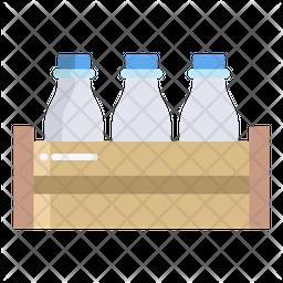 Milk Bottle Flat Icon