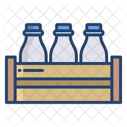 Milk Bottle Colored Outline Icon