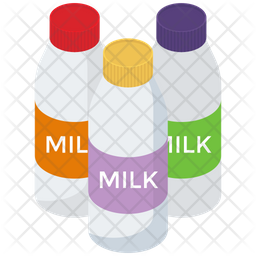 Milk  Bottles Vectors Icon