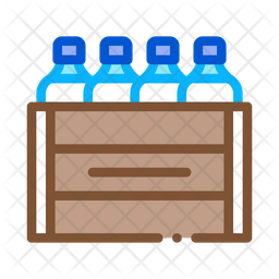 Milk Box Bottles Icon